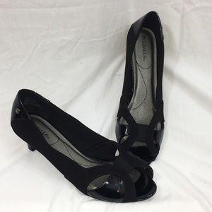 Marbella Lorna Black Pumps Sz 11 Kitten Heel